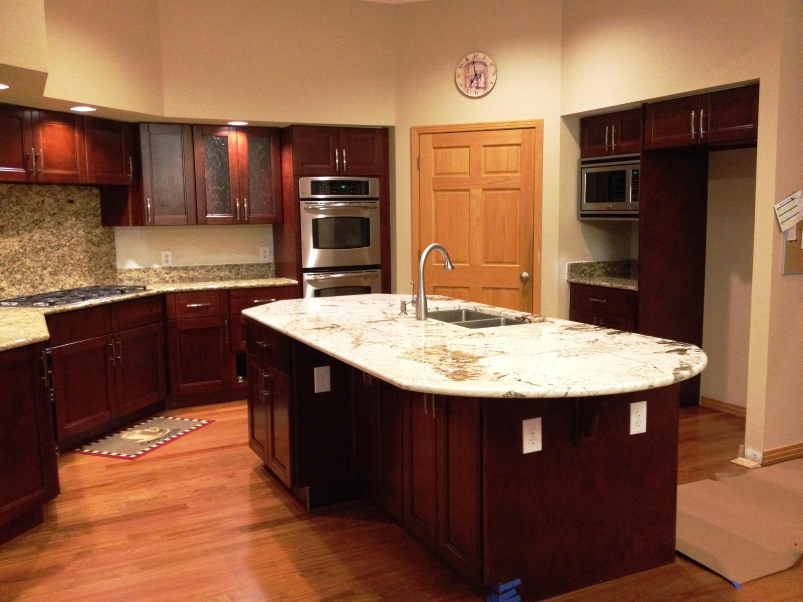 Cherry Double Shaker Cabinet Gallery | Custom Cabinets | Stone ...