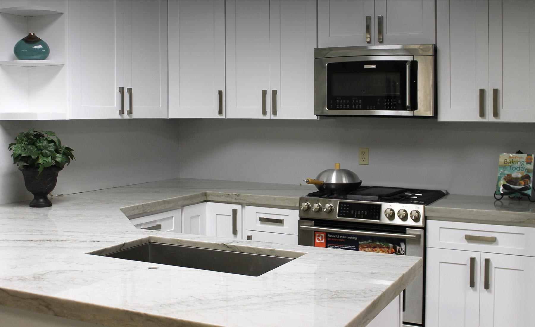 white shaker cabinets with quartz countertops. snow white shaker cabinets - photo gallery with quartz countertops r